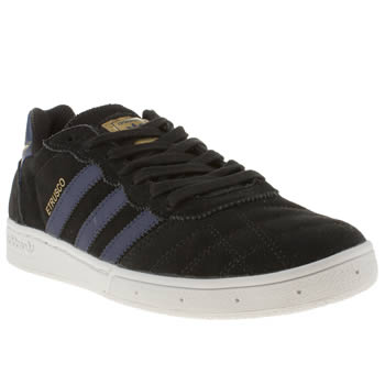 mens adidas black & gold etrusco trainers