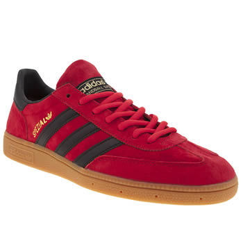 Mens Adidas Red Spezial Trainers