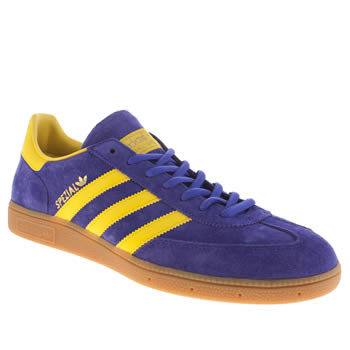 Mens Adidas Purple Spezial Trainers