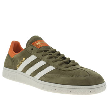 Mens Adidas Green Spezial Trainers