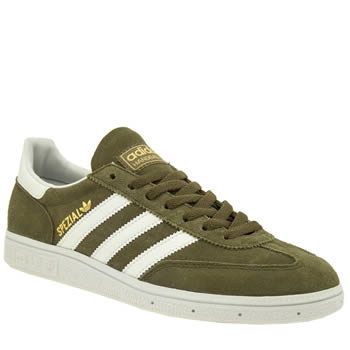 Mens Adidas Dark Green Spezial Trainers