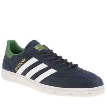 Mens Adidas Navy & White Spezial Trainers
