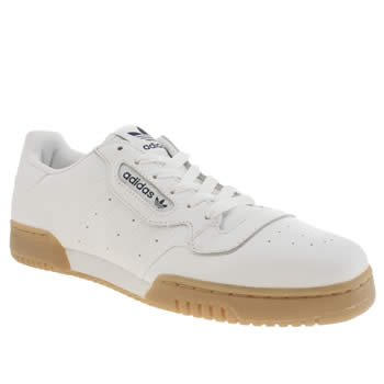 Mens Adidas White Powerphase Trainers