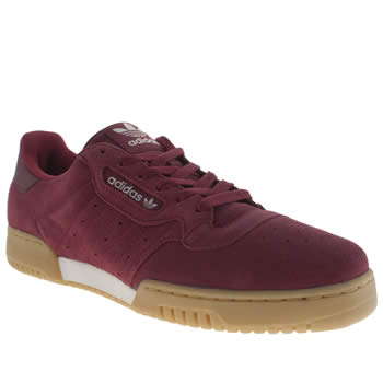 Mens Adidas Burgundy Powerphase Trainers