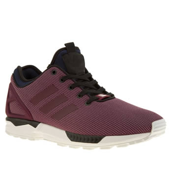 Mens Adidas Burgundy Zx Flux Nps Trainers