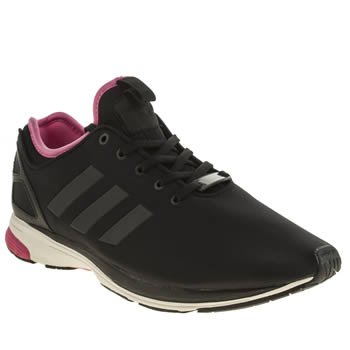 Mens Adidas Black & pink Zx Flux Zero Nps Trainers