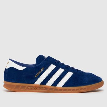 mens adidas navy & white etrusco trainers