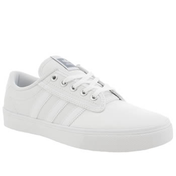 Mens Adidas White Kiel Trainers