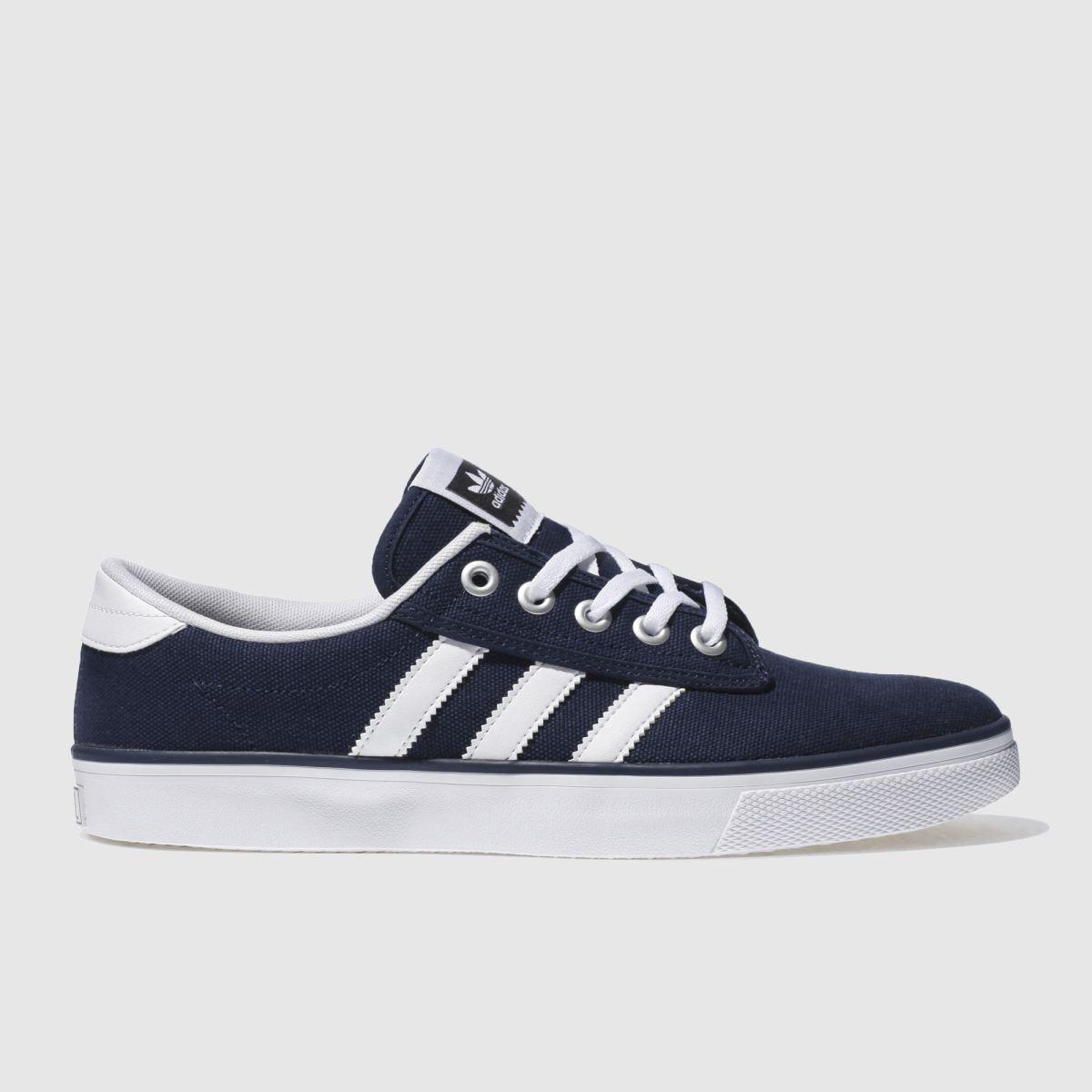 adidas navy & white kiel trainers