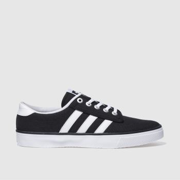 Mens Adidas Black & White Kiel Trainers