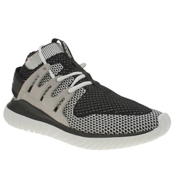 Mens Adidas White & Black Tubular Nova Primeknit Trainers