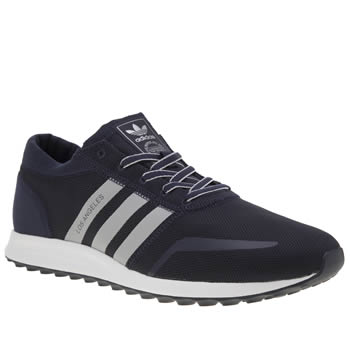 Adidas Navy & Grey Los Angeles Trainers