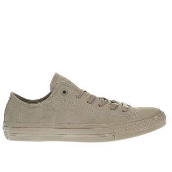 Converse Khaki Chuck Taylor Ii Ox Leather Trainers