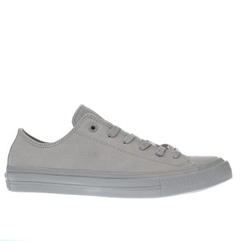 Converse Grey Chuck Taylor Ii Ox Leather Trainers