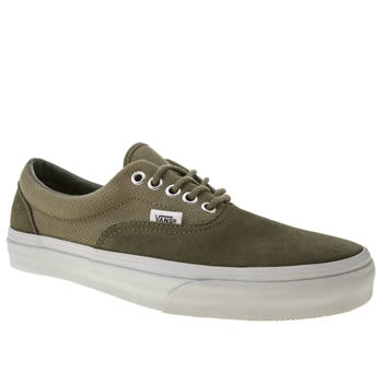 Mens Vans Khaki Era Hemp Trainers