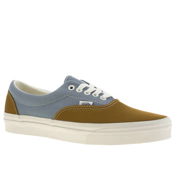 mens vans brown & pl blue era trainers