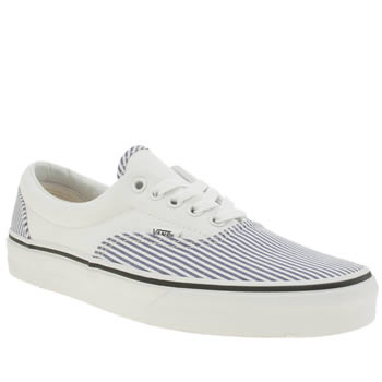 Vans White & Navy Era Deck Club Trainers