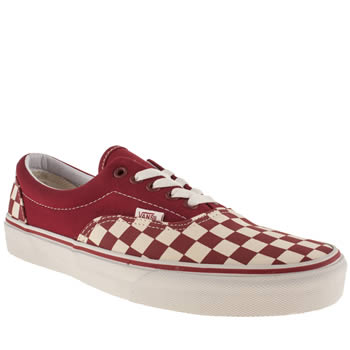 mens vans red era trainers