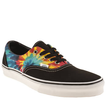 mens vans black and blue era tie dye trainers