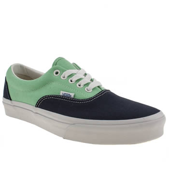 mens vans navy & green era trainers