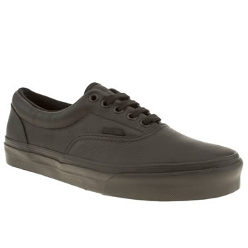 mens vans black era trainers