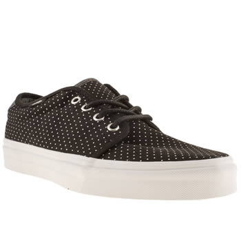 mens vans black & white 159 vulc trainers