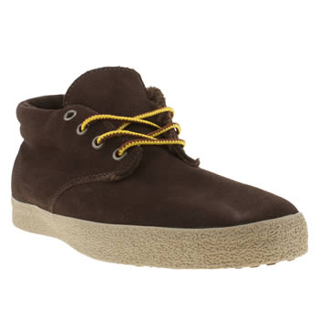 mens vans dark brown del norte trek trainers