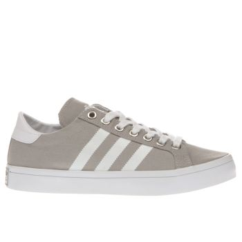 Mens Adidas Light Grey Court Vantage Trainers