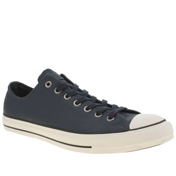 Mens Converse Navy All Star Ox Motorcycle Trainers