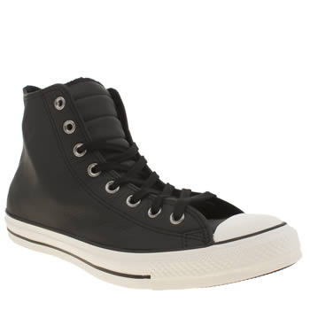 Converse Black All Star Hi Motorcycle Trainers