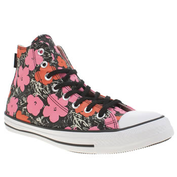 Converse Red All Star Andy Warhol Floral Hi Trainers
