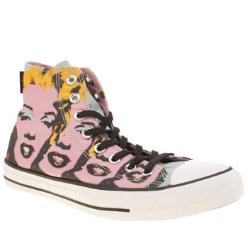 Converse Pink & Black All Star Hi Warhol Marilyn Trainers