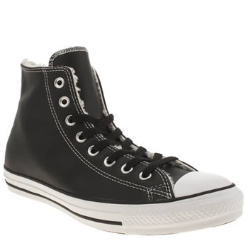 Mens Converse Black Chuck Taylor All Hi Shearling Trainers