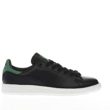 ADIDAS BLACK & GREEN STAN SMITH BOOST TRAINERS