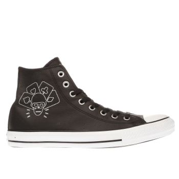 Converse Black & White All Star Hi The Clash Trainers