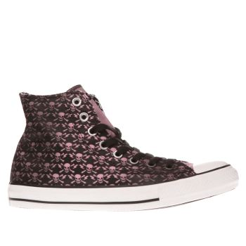 Converse Black & pink All Star Hi The Clash Trainers