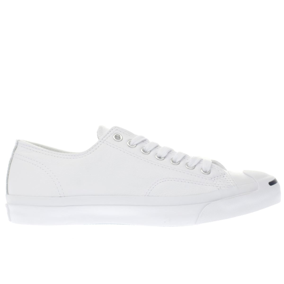 converse white jack purcell leather trainers