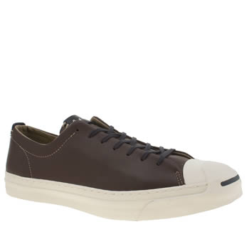 Mens Converse Dark Brown Jack Purcell Trainers