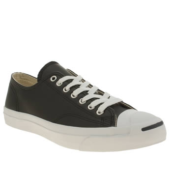 Converse Black Jack Purcell Leather Mens Trainers