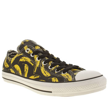 Converse Black All Star Warhol Banana Ox Trainers