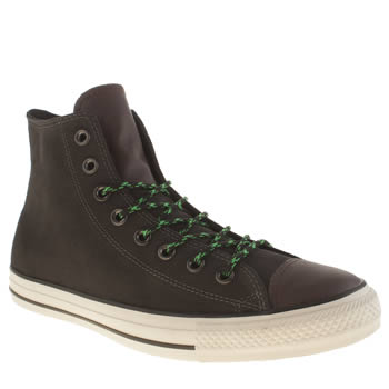 Converse Dark Grey Chuck Taylor All Star Hi Suede Trainers