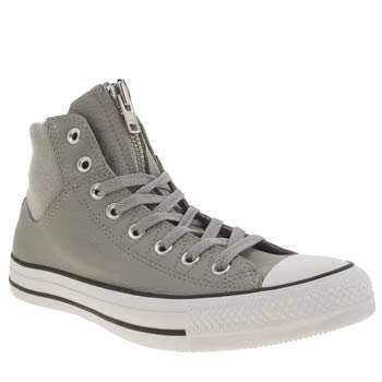 Converse Grey All Star Ma1 Zip Hi Military Trainers
