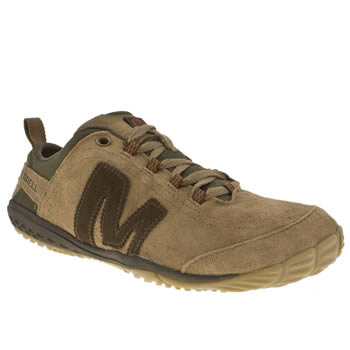 mens merrell brown excursion glove trainers