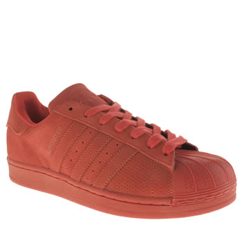 Mens Adidas Red Superstar Rt Mono Trainers