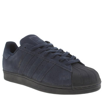 Mens Adidas Navy Superstar Rt Mono Trainers