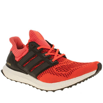 Mens Adidas Red Ultra Boost Trainers