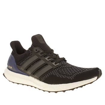 Mens Adidas Black & Grey Ultra Boost Trainers