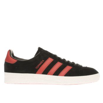 Adidas Black & Red Topanga Trainers