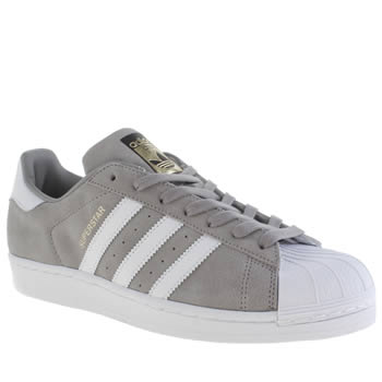 Mens Adidas Grey Superstar Suede Trainers