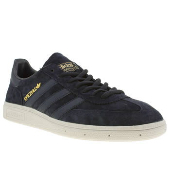 Mens Adidas Navy & Gold Spezial Trainers